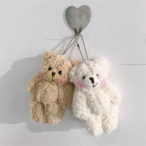12Pieces lot Kawaii Small Joint Teddy Bears Stuffed Plush With Chain,Holiday Wedding Party Boutique Bear Gift Toy