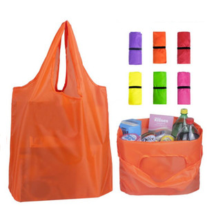 Sacos de compra Bolsas Único ombro dobrar Shopping Bag Recycle Armazenamento Bolsas Home Storage Organização Protable sólidos Bolsas LSK1461