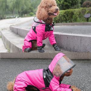 Плащ Pet Dog Pakuate Собака Лицо ПЭТ Одежда для домашних животных Комбинезон Водонепроницаемая собака Куртка Собаки Водонепроницаемая Одежда для собак BByzzl