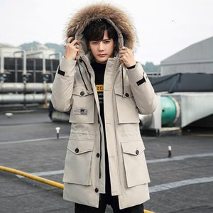 Inspected Fox Real Hair Collar 90 Down Jacket Men &#039 ;S Medium Long Fashion Brand Thickened Coat 102b -R012p265