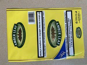 Scatola di sigaretta del marchio del Regno Unito che fuma tabacco Amber Leaf Package Cases Custodie di sigarette Tabacco 500G = 10 PACCHETTO / LOT PLASTICA Boxers Drum Drum tabacco a pagamento