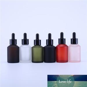 500PCS 60ml glass matte oblique shoulder water bottle essence liquid foundation dispensing portable dropper bottle