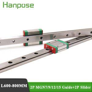Livraison gratuite 2PC MGN7 Guide de rail linéaire 200mm avec curseur 2PC MGN7C / MGN7H pour l'équipement de moniteur d'imprimante 3D