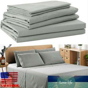 Egiziano Comfort 1800 Conte 4 pezzi lenzuolo Set profonda tasca lenzuola morbido Brief Set biancheria da letto