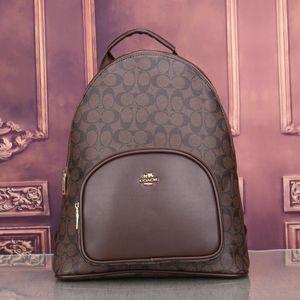 COACH 2020 جديد أزياء العلامة التجارية الفاخرة إمرأة فاخر مصمم المحافظ حقائب الحقائب ذات جودة عالية 3 لون المدرسة خياطة حقيبة على ظهره في الهواء الطلق