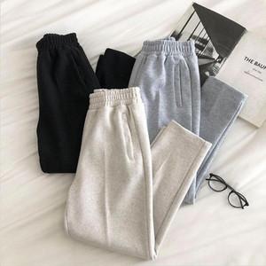Guuzyuviz Pantaloni Harlan Allentati Casual Guuzyuviz Pantaloni ad alta lunghezza della caviglia spessa Donne Harajuk Plus Size Sweatspants1