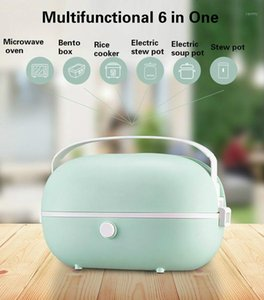 Electric Portable Heating Lunch Box Electric Heating Self-heating Steamed Hot Rice Cocker Steamer Meal Bento Box1