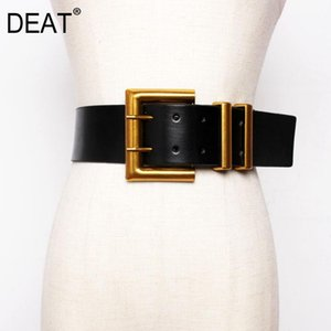 [DEAT] 2020 New Autumn Trendy Wid Belt For Women Solid Casual Fashion Waistband Wild Metal Buckle Leather Corset Belt Femalee