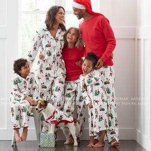 Family Look New Year Matching Christmas Pajamas Sets Baby Boy Girl Pyjamas Mommy and Me Clothes Women Men Kids Cartoon Sleepwear