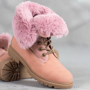 Hot Sale-2020 Platform Boots Women Fashion Boots Ladies Shoes Snow Outdoor Winter Keep Warm Plush FUR Snow Female