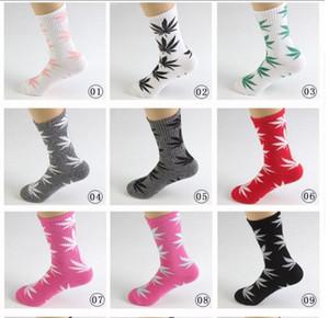 35 Renkler Noel PlantLife Çorap Erkekler Kadınlar Için Yüksek Kaliteli Pamuk Çorap Kaykay Hiphop Akçaağaç Yaprak Spor Çorap Toptan FY7301