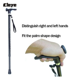 Cleye professionale Old Man Walking Stick retrattile in alluminio in lega Stampelle antiscivolo Anziani gomma Walking Cane per gli anziani