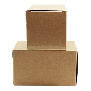 50pcs Lot Blank White Brown Kraft Paper Folding Box Jewelry Crafts Paperboard Packaging Box Candy Chocolate Package Paper Box H bbyWZt