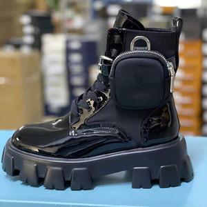 النساء المصممين Rois أحذية مونوليث التمهيد الكاحل مارتن الأحذية العسكرية مستوحاة القتالية القتالية الأحذية نايلون كوز المرفقة الكاحل 4 اللون مع مربع ث