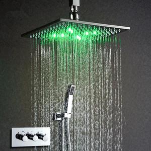ثرموستاتي الحنفية دش مجموعة 10 بقيادة رئيس دش بدعم من مياه الأمطار دش الحنفية الحائط توفير المياه الخيالة صندوق كروم