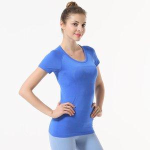 2021 a mesma roupa de yoga womens top sexy rapidamente secagem respirável fitness exercício exercício manhã exercício correndo de manga curta t-shir