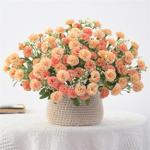 20 Heads Small Cloves Carnation Bundle Artificial Silk Flowers for Home Garden Home Decoration photography ornaments Supply