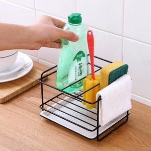 Neue Schwammhalter Seife Ablauf Lagerregal Kitchen Sink Organizer Lappen Geschirrtuch Bürstenhalter Eisenhelf Badezimmer Organizer