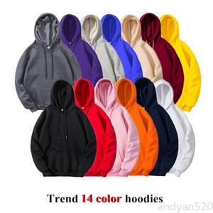 Hot 2020 Spring Autumn Fashion Brand Men's Hoodies Male Casual Hoodies Sweatshirts Men Solid Color Hoodies Sweatshirt Tops