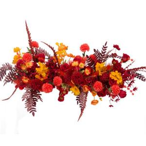 100X45cm casamento Flor Row Arranjo Supplies Silk Peônia Rose Flor Artificial Row Arco do casamento estação de Fundo T Decor