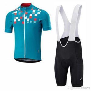Morvelo Team Cycling Short Sleeves Jersey (Bib )Shorts Sets 2018 Summer New Gel Padded Mtb Sport Quick Dry Ropa Ciclismo C1709