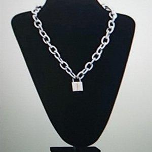 Ожерелье орнамент личности панк хип-хоп новый стиль блокировки толстые цепи ожерелье женские простые все-спитная цепь свитера