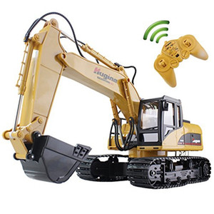 RC Truck Excavator Crawler 15ch 2.4g Télécommande Digger Demo Démo Construction Engineering Modèle Electronic Hobby Toys Y200413