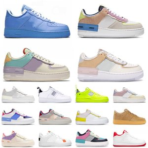 force 1 shadow force af1 off white Calzado de deporte clásico sombra blanco apenas rosa marfil Metal baloncesto patineta