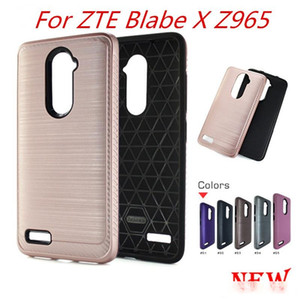 Armor carbon fiber Case For ZTE Blade X Z965 For zte blade z max metroPCS For Alcatel A30 Fierce Metropcs Hybrid Brushed C