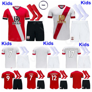 Kids INGS Youth Soccer Jersey Socks Set Soccer WARD PROWSE ARMSTRONG REDMOND ADAMS HOJBJERG STEPHENS OBAFEMI DJENEPO Football Shirt Kits