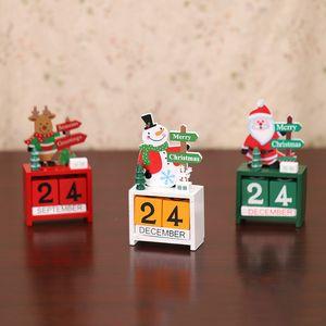 Ahşap Lockscreen Takvimler Noel Süsleri Home For Noel Süsleme Yaratıcı Çocuklar Hediyeler Parti Favor FWA1977