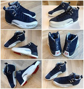 Jumpman 2020 New 12 12s mens RETRO basketball shoes International Flight blue white men trainers Athletic sports sneakers
