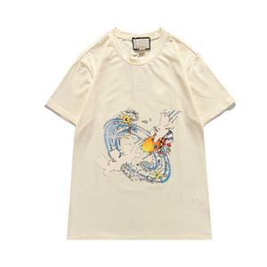 Herren T-Shirt für Sommer Mode Männer Frauen Brief Gedruckt T Shirts Neue Ankunft Beiläufige Streetwear T-Shirts Atmungsaktive Männer Tshirt 2 Farben