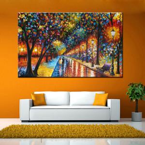 Дерево Улица Абстрактные Пейзаж подставил Unframed Home Decor расписанную HD Печать Картина маслом на холсте Wall Art Холст Pictures ER11,2011