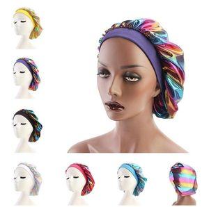 Women durags durag girls Night Sleep hats Bonnet Turban Hat Silk Satin Bandana chemo cap bath caps hair care head cover Hair Accessories NEW