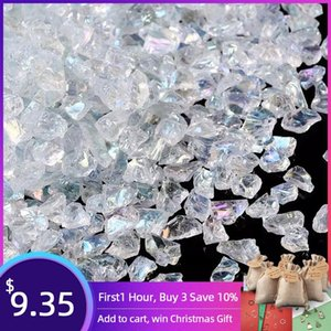 0.5-7mm 3mm Clear Seed Beads Glass Chips Natural Irregular Stone Beads for Jewelry Making Crystal Necklace Bracelet No Hole Q1106