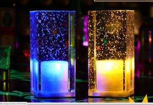 LED зарядки красочного кристалла украшения лампа бар ресторан гостиной спальня ночной свет украшение подарок атмосфера настольной лампы