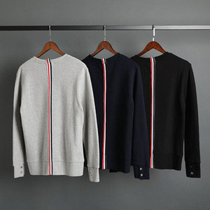 2020 2020 Moda TB Marka İlkbahar Sonbahar Kapşonlu Giyim Pamuk Ceket Bay Bayan Tişörtü O Yaka İnce Casual Spor Coat ZjtA #