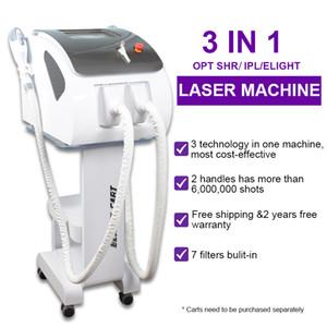 Nueva máquina de depilación permanente IPL OPT OPT SHR LASER DIODE DE ALIMENTACIÓN Elight Equipos de rejuvenecimiento de la piel DHL envío gratis