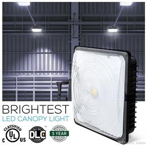 Гарантия 5 лет 40 Вт 60 Вт 80 Вт Светодиодные прожекторы Навес светильник на открытом воздухе Лампа на свежем воздухе Водонепроницаемый AC 110-277V UL DLC