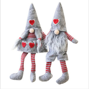 Stuffed Dolls Christmas Valentine Dolls NO Face Plaid Animals Plush Toys Kids Christmas Presents Gifts Home Shop Hotel Bar Decoration B7705