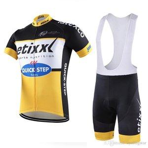 Ropa Ciclismo Etixx Quick Step Велоспорт Джерси Велосипед Одежда с коротким рукавом Костюм велосипедов Майо Велоспорт одежда Летняя Mtb Sportwear A1002
