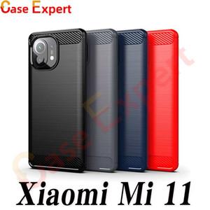 Carbon Fiber Texture TPU Case for Xiaomi Mi 11 10T CC9 Note 9 Pro Redmi 9C K30 Pro K20 9A Prime