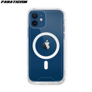 Transparent Acrylic TPU Shockproof Mgnetic Case For iPhone 12pro Max iphone 12 12mini Case Magsafe Wireless Charger Cover