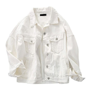 Denim Jacket For Women white Color Jeans Coat BF Style Loose Outwear tops 2020