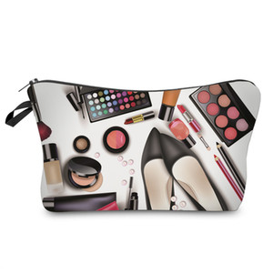 Women Cosmetic Bags 3D Printed Cosmetic Bag Makeup Bag Pattern New Fashion Necessaries for Organizer Toiletry