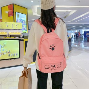 School Backpack For Teenage Girl Women Casual Simple College School Bag Nylon Travel Backpack Sac A Dos Femme 2020#G2