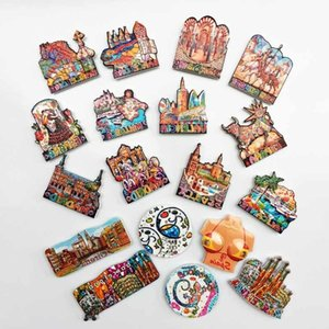 BABELEMI Souvenirs in Spain Fridge Magnets Barcelona Madrid Mallorca Valencia Seville Corvador Flamingo Girona Famous Building