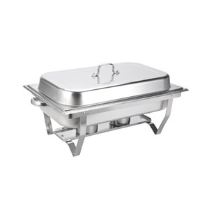 Square buffet stove foldable meal stove (single grid double grid three grid) Buffy stove