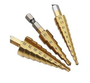 Hss Titanium Step Hexagonal Pagoda Drill Bits 3-13 3-12 4-12 4-20 4-22 4-32 mm Step Cone Cutting Tools Steel Woodworking Metal Drilling Set